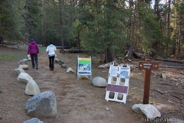 Wawona Swinging Bridge Yosemite NP Hikespeakcom