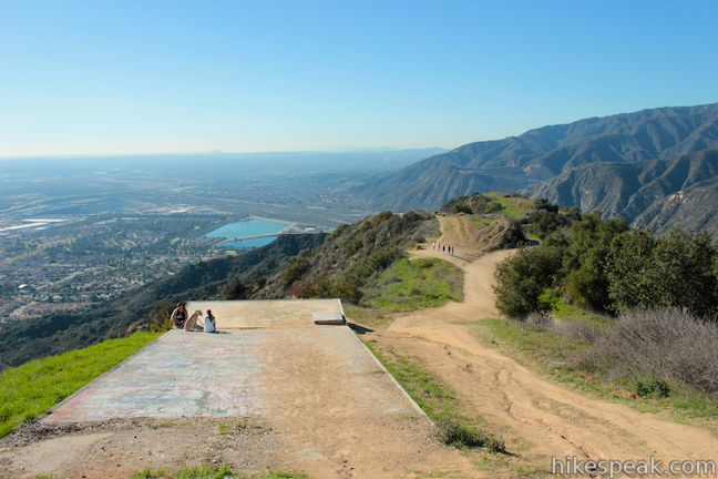 "This 2 2/3-mile or 4 2/3-mile hike ascends Garcia Trail to ""the A"" and one or two picturesque summits along Glendora Ridge Motorway."