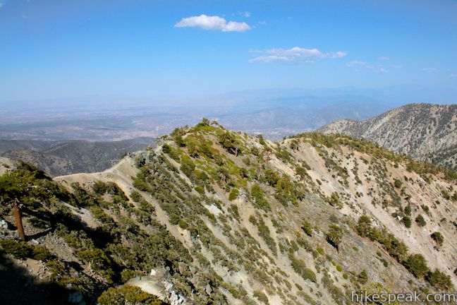 Mount Baldy via Devil's Backbone Trail in the San Gabriel Mountains