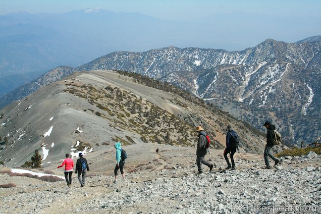 This 11.3-mile loop combines the hair-raising Devil's Backbone with Baldy Bowl – Ski Hit Trail to reach the highest summit in the San Gabriel Mountains.