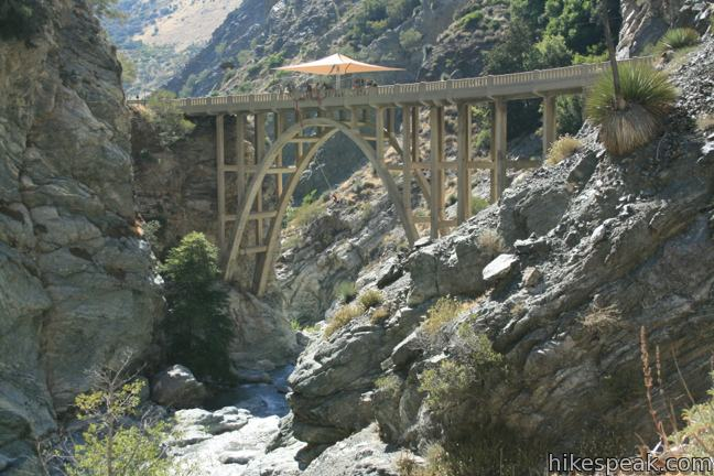 This adventurous 10-mile hike requires several river crossings to reach an out-of-place bridge with a unique history.