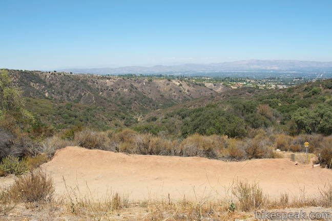 Looking down Caballero Canyon Trail