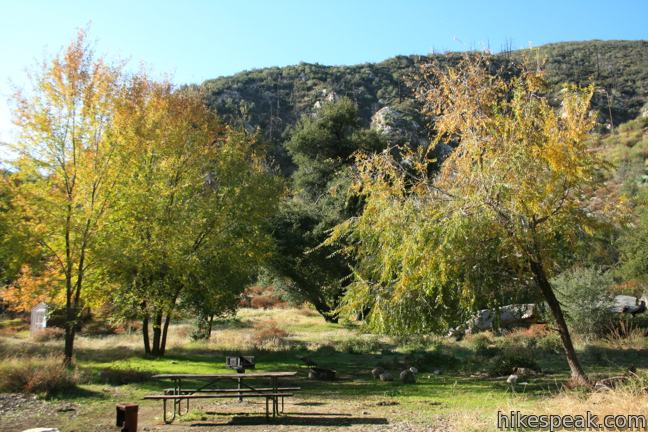 Coldbrook Campground in the San Gabriel Mountains