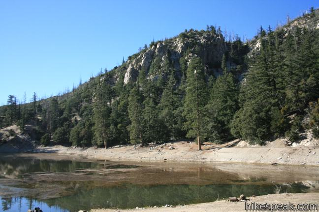 Crystal Lake in the San Gabriel Mountains
