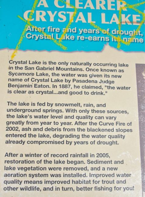 Crystal Lake Sign