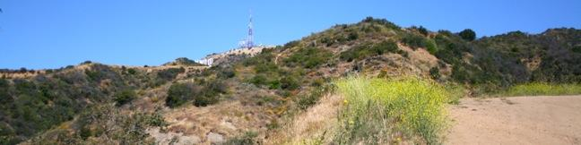 Hollywood Sign Hike Griffith Park Los Angeles California hiking trail Mount Lee