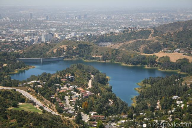 Lake Hollywood Reservoir from Mount Lee