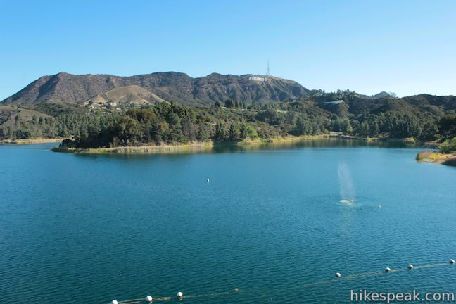 Lake hollywood reservoir trail los angeles hikespeak hollywood reservoir ccuart Image collections