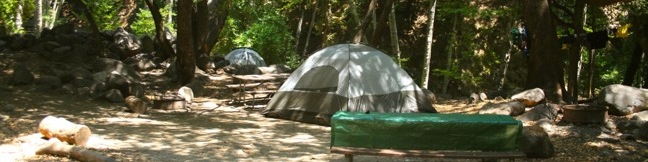 Los Angeles Camping developed campgrounds trail camps southern California