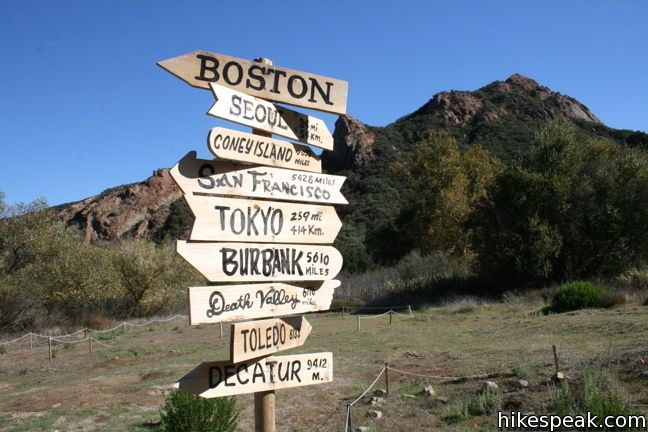 This 4.75-hike in Malibu Creek State Park visits the site where the exteriors of the television show MASH were filmed.