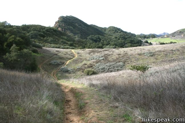 Cistern Trail, Lookout Trail, and Cage Creek Trail in Malibu Creek State Park