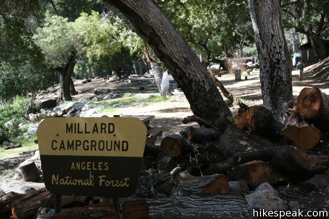 Millard Campground in the San Gabriel Mountains