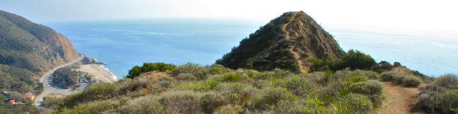 Scenic and Overlook Trails Loop Point Mugu State Park Malibu Los Angeles California hiking trail Big Sycamore Canyon