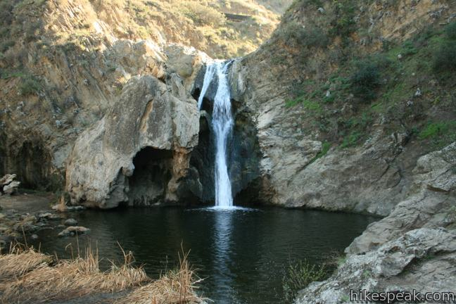 This 40-foot waterfall in Wildwood Park in Thousand Oaks can be reached via several trails for hikes of 2.55 miles or more.