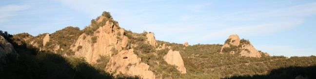 Red Rock Canyon hiking trail Calabasas California