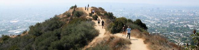 Runyon Canyon Park Hollywood Hike dog park dog-friendly Runyon Canyon Park is one of the most popular hiking destinations in Los Angeles best hike LA