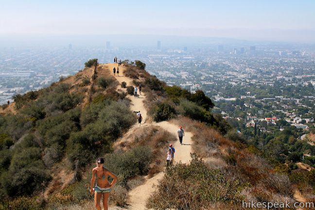 Runyon Canyon west ridge trail