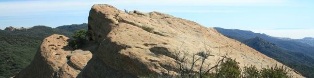 Eagle Rock in Topanga State Park, Trippet Ranch, Musch Trail, Eagle Rock Fire Road, Eagle Springs Fire Road, Topanga Canyon, Santa Monica Mountains, Los Angeles, Entrada Road, Hike, trail, sandstone summit