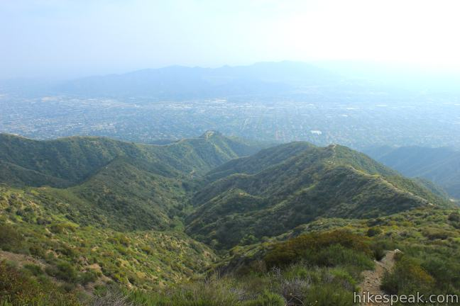 Tongva Peak overlook Verdugo Mountains