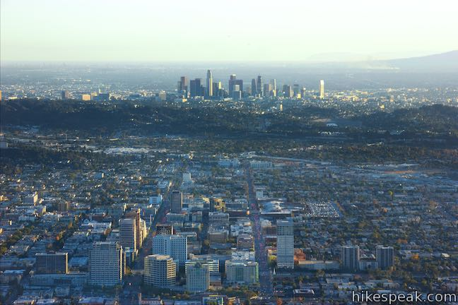 Downtown Glendale and downtown Los Angeles