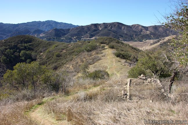Las Virgenes View Foundation Ruins